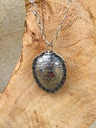 necklace pendant shell images Sterling silver turtle necklace turtle shell necklace jpg