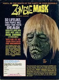 verne langdon zombie mask ad blood curdling blog of monster masks