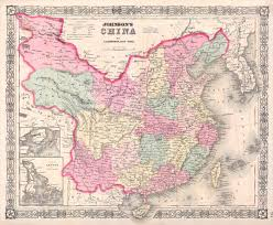 Maps Of China by File 1865 Johnson Map Of China Taiwan Geographicus China J