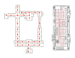 museum floor plan requirements step in space