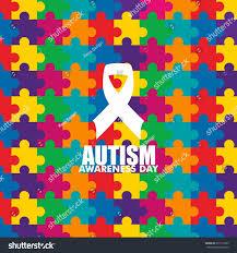 world autism awareness day logo design stock vector 397112395