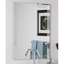 frameless pictures decor wonderlad frameless tri bevel wall mirror free shipping