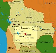 bolivia on world map maps of sucre