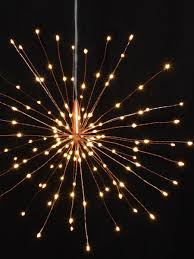 Battery Operated Hanging Lights Starburst Battery Operated Hanging Lights 30cm U2013 The Seasonal Touch