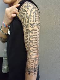 cool clean full arm tribal tattoo design for men tattoomagz