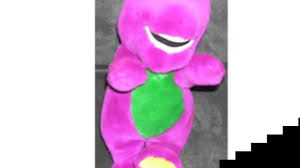 barney small soft plush 1992 lyons group youtube