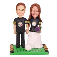 football wedding cake toppers pittsburgh steelers football wedding cake toppers