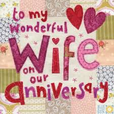 To My Wife On Our Wedding Day Card Anniversary Cards Collection Karenza Paperie