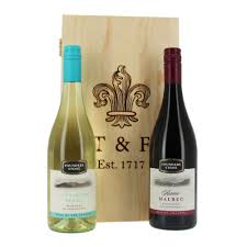 wine bottle gift box thornton wine duo in wooden gift box my gift hers