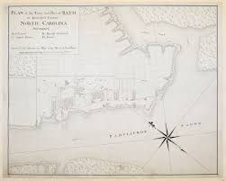 Paper Town Map Plan Of The Town And Port Of Bath In Beaufort County North