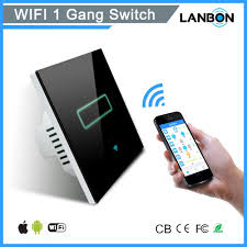 2017 new smart home products touch rf wifi smart switch glass