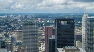 view of houston tx city seen from jpmorgan chase tower building