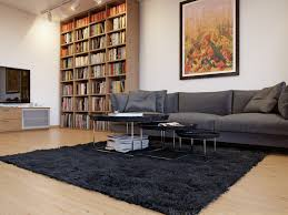 Grey Sofa What Colour Walls by Charming And Great Black Fur Rug Living Room With Three Seater