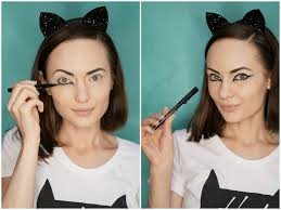 halloween makeup tutorial easy halloween easy cat makeup tutorial