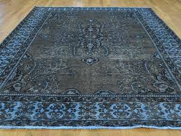 8 u0027x11 u0027 hand knotted overdyed worn persian bakhtiari pure wool rug