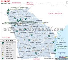 Tennessee national parks images Georgia national parks map list of national parks in georgia jpg