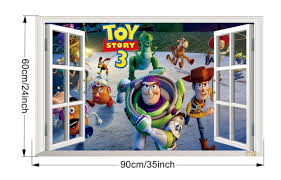 3d toy story removable wall sticker decal home rome decoration kid