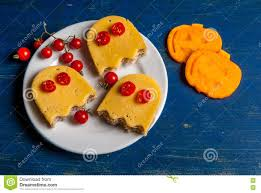 funny food for a child for halloween stock photo image 77364240
