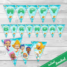 bubble guppies birthday banner party banner bubble guppies