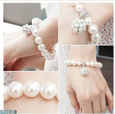 pearl style bracelet images 2018 korean style wedding bracelet bridal party jewelry faux pearl jpg