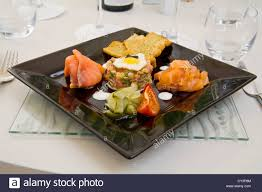 restaurant nouvelle cuisine nouvelle cuisine dinning table place setting restaurant stock photo