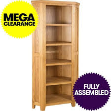 bookcase corner oak bookcase oak corner bookcase sale small