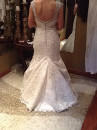 Wedding Dress Bustle Over Bustle With A Mermaid Style Lace Wedding Gown Wedding Gown