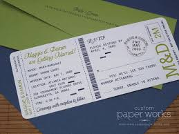 boarding pass save the date school boarding pass invitations custom paper works