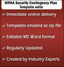 hipaa contingency plan templates can be used as disaster recovery