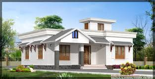 front elevation of single floor house kerala gallery including
