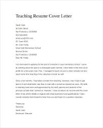 Resume Cover Sheet Example by Cover Letter For Teaching Resume
