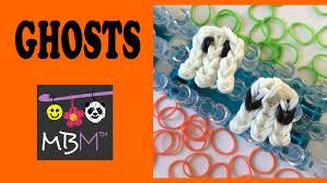 rainbow loom easy ghost charms for halloween youtube