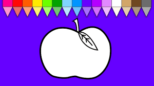 apples coloring page fruit coloring pages for kids guava fruits