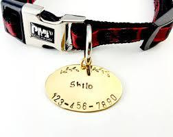 Custom Gold Dog Tags Gold Dog Tag Etsy