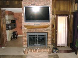 tv mount fireplace stone flat panel mounted model on existing