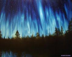 how to paint northern lights aurora borealis art northern lights painting acrylic painting