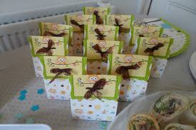 flutter and sparkle owl themed baby shower for a boy or