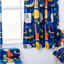 Jungle Nursery Curtains Childrens Nursery Curtains Kids Junior Tweens Tape Top Pencil