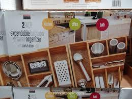 Seville Classics Office Desk Organizer by Bamboo Drawer Organizer Ybm Home U0026 Kitchen In Drawer Large