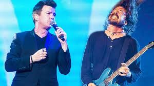 Rick Astley Meme - rick astley the foo fighters unlikely duet turns into the