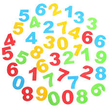 40pcs baby kids room numbers foam removable diy quote decal mural