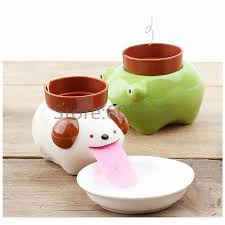 Animal Planter by 150sets Animal Planter Cute Cultivation Peropon Drinking Ceramic