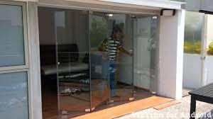 frameless glass patio doors singapore penthouse masterbed room frameless door fold open