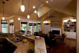 cozy kitchen to great room lighter playuna