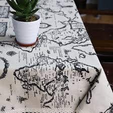 aliexpress com buy cotton linen table cloth country style map