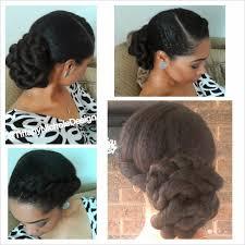 black hair bun hair style twisted bun curlynikki