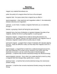 true or false magnetism worksheet