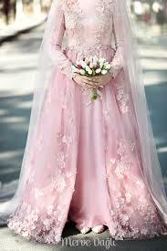 wedding dress muslimah 2016 detachable skirt sleeve muslim wedding dress pink high