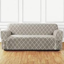 Teal Couch Slipcover Sure Fit Lattice Box Cushion Sofa Slipcover U0026 Reviews Wayfair
