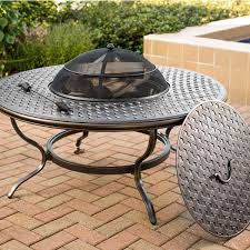 wood burning fire table heritage wood burning fire pit by agio aminis